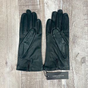 Lord & Taylor Womens Genuine Leather Gloves Sz 6